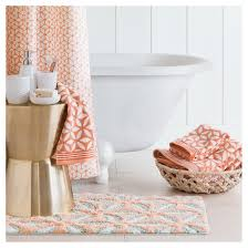 Duck Bathroom Rug Coral Bath Rug White Threshold Target
