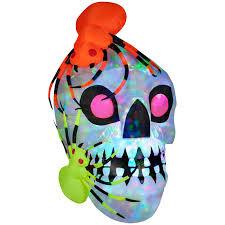 Light Show Halloween Gemmy Airblown Light Show Skull With Spiders Kaleidoscope