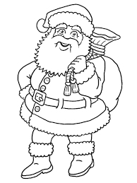 santa claus sketch coloring home