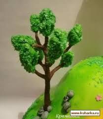 how to make fondant trees after cover with gumpaste or fondant