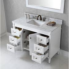 Black Bathroom Vanity With White Marble Top by Enchanting 48 Inch Bathroom Vanity With Top And Sink Including