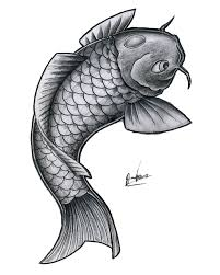 simple koi fish outline