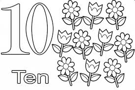 wonderful number 10 coloring pages free numbers 1 10