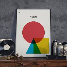 david bowie quote poster print minimal art home decor music