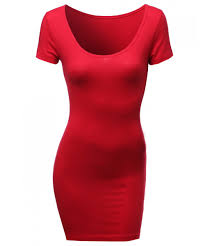 basic solid fitted bodycon dress good match with cardigan jacket