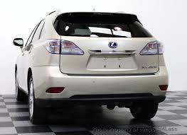 lexus suv hybrid used 2012 used lexus rx 450h certified rx450h awd hybrid suv premium