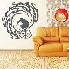surfer and waves wall sticker vinyl decal home decor wall art surfer and waves wall sticker sports wall sticker art vinyl wall decalsuffer