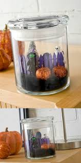 make a mini diy halloween in a jar home made halloween craft