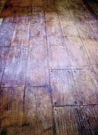 interior floor sted concrete overlay simulated wood grain planks