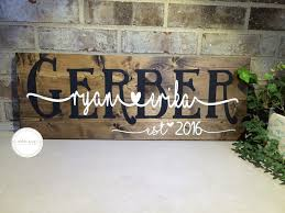 wooden personalized gifts wooden wedding sign custom name sign personalized wedding gift
