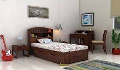 buy single beds for bedroom with elegant designs online in india