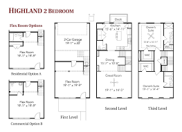 3 story townhouse floor plans highland 2 bedroom live work townhome floor plans regent homes