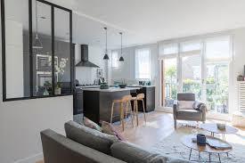 deco salon ouvert sur cuisine verrière d intérieur type atelier des exemples d archi et de