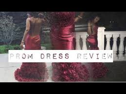 lolipromdress review sleeveless burgundy mermaid prom dress review suzhoudress tejae