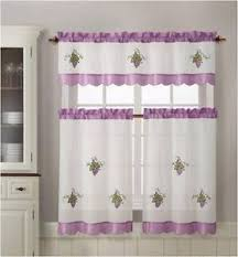 Grapes Kitchen Curtains Brown Kitchen Curtains Or Valances On Popscreen