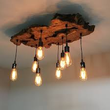 Wooden Chandelier Modern Custom Made Medium Live Edge Olive Wood Chandelier Rustic And For