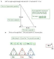 trigonometry sohcahtoa helpsheet u2013 manor maths