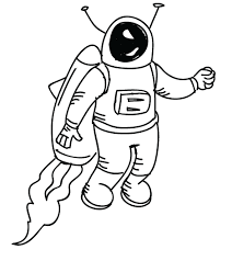 space man doodle clipart fort