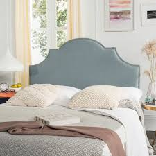 headboard reading ls bed safavieh hallmar arched sky blue king headboard mcr4027d the home