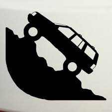 jeep silhouette купить виниловую наклейку jeep внедорожник едет в гору на авто