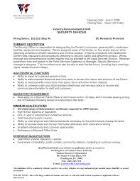 Resume Examples For Jobs In Customer Service by Security Guard Customer Service Resume