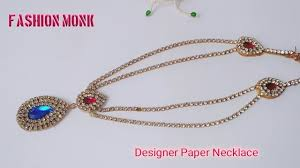 make chain necklace images How to make paper necklace diy paper necklace how to make jpg