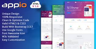 what is the best html5 javascript template for an app landing page