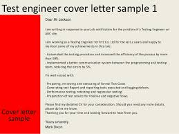 Sample Resume For Manual Testing Professional Of 2 Yr Experience by Test Engineer Cover Letter