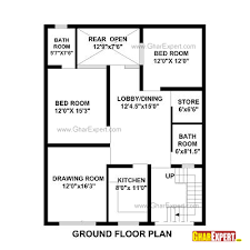 How Big Is 1100 Square Feet House Plan For 31 Feet By 43 Feet Plot Plot Size 148 Square Yards