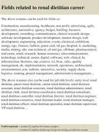 top 8 renal dietitian resume samples