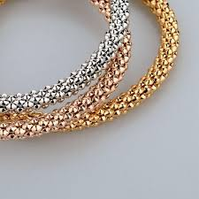 swarovski gold plated bracelet images Russian 3 colour swarovski bracelet amosh european jewellery jpg
