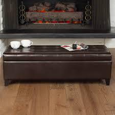 home loft concept trufant bonded leather tufted storage ottoman