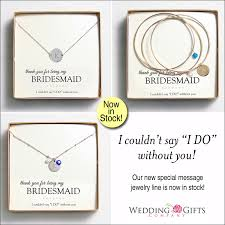 wedding gift message jewelry for your wedding party with a special message