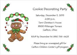 cookie exchange invitation gingerbread man