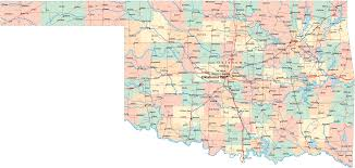 Route 66 Map Oklahoma Road Map Oklahoma Mappery Road Map Detailed Political