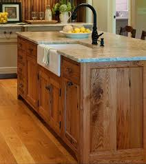 Kitchen Island Made From Reclaimed Wood Best 25 Kitchen Island With Sink Ideas On Pinterest Kitchen