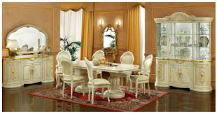 Aico Furniture Dining Room Sets Esf Furniture Leonardo 7pc Dining Table Set In Ivory By Dining