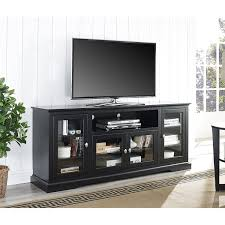 tv unit with glass doors amazon com we furniture 70