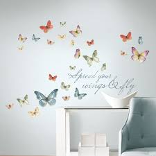 audit watercolor butterfly quote wall decals lisa audit watercolor butterfly quote wall decals