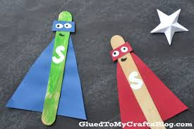 popsicle stick superheroes kid craft
