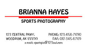 Print Business Cards Word Simple Business Card 2