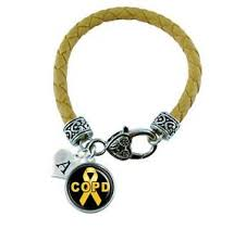 copd ribbon custom copd awareness yellow ribbon leather bracelet jewelry