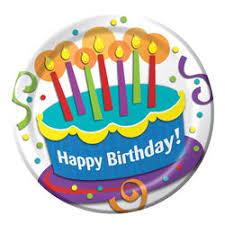 birthday cake paper dessert plates 415009 my paper shop