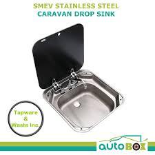 caravan sink with lid smev stainless steel caravan drop sink black glass lid flush mount