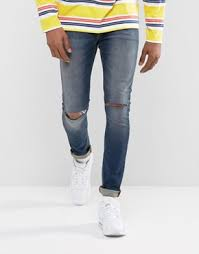 Ripped Knee Jeans Mens Ripped Jeans For Men Destroyed U0026 Distressed Jeans Asos