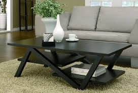 Decorative Coffee Tables Grey Fabric Sofa Used Black Painted Square Coffee Table And White
