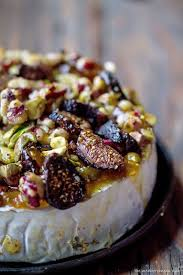 baked brie topped with walnuts jam preserve figs