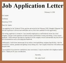cover letter exles for resumes free exle application letter for vacancy 4