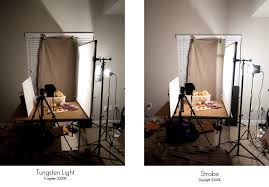 what is tungsten light temperature and food photography