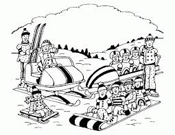 6 pics winter scenery coloring pages winter scene coloring